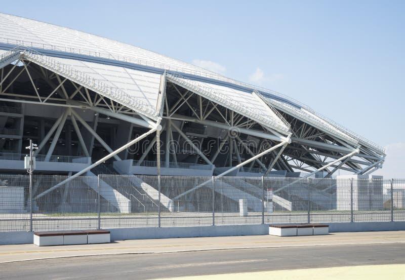 Estádio de futebol de Samara Arena Samara - a cidade que hospeda o campeonato do mundo de FIFA em Rússia em 2018 imagens de stock royalty free