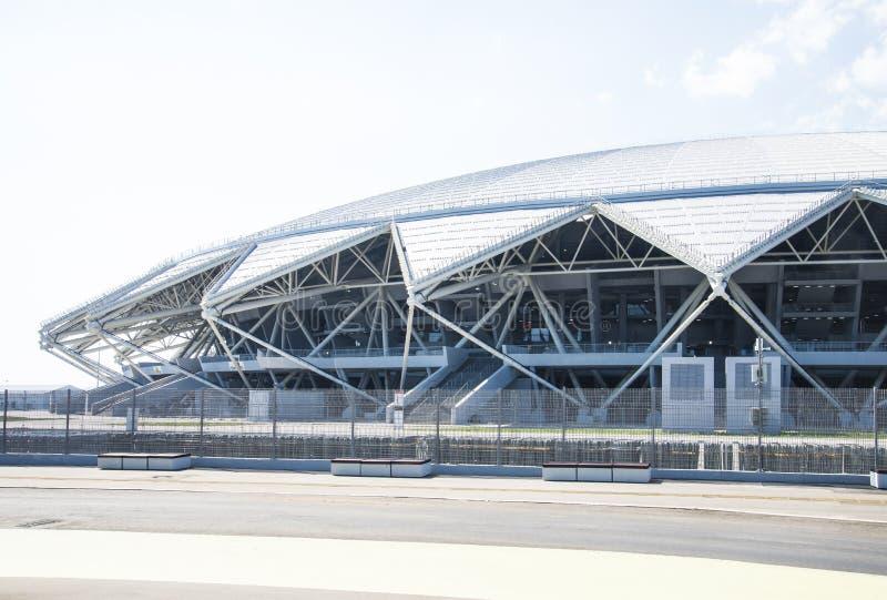 Estádio de futebol de Samara Arena Samara - a cidade que hospeda o campeonato do mundo de FIFA em Rússia em 2018 fotografia de stock