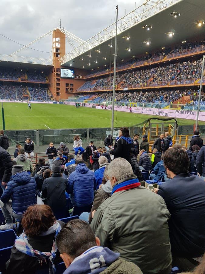 Estádio de futebol de Sampdoria imagem de stock royalty free