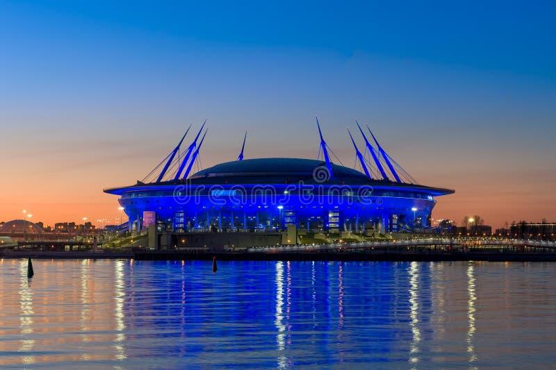 Estádio de futebol de St Petersburg fotografia de stock royalty free
