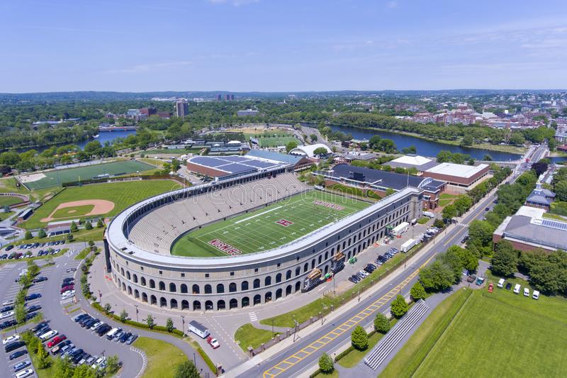 Estádio de Harvard, Boston, Massachusetts, EUA imagem de stock royalty free