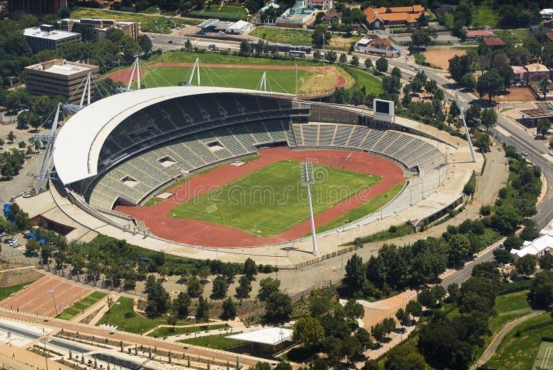 Estádio de Joanesburgo - opinião de olho de pássaros foto de stock