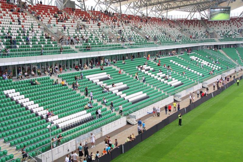 Estádio de Legia Varsóvia fotografia de stock