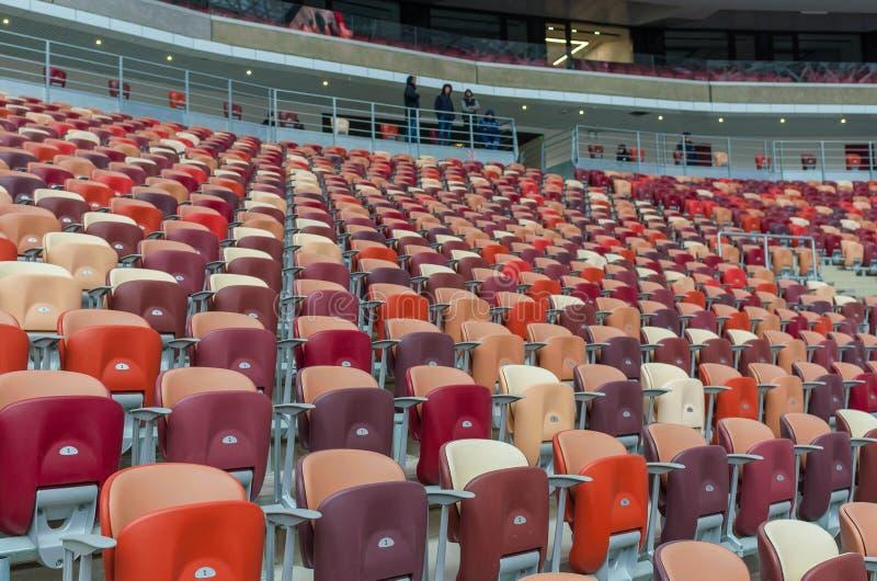 Estádio de Luzhniki na noite foto de stock
