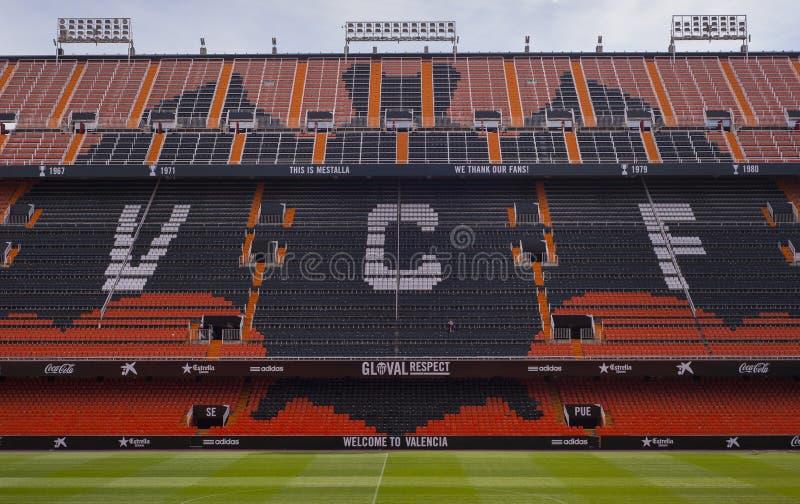 Estádio de Mestalla foto de stock royalty free
