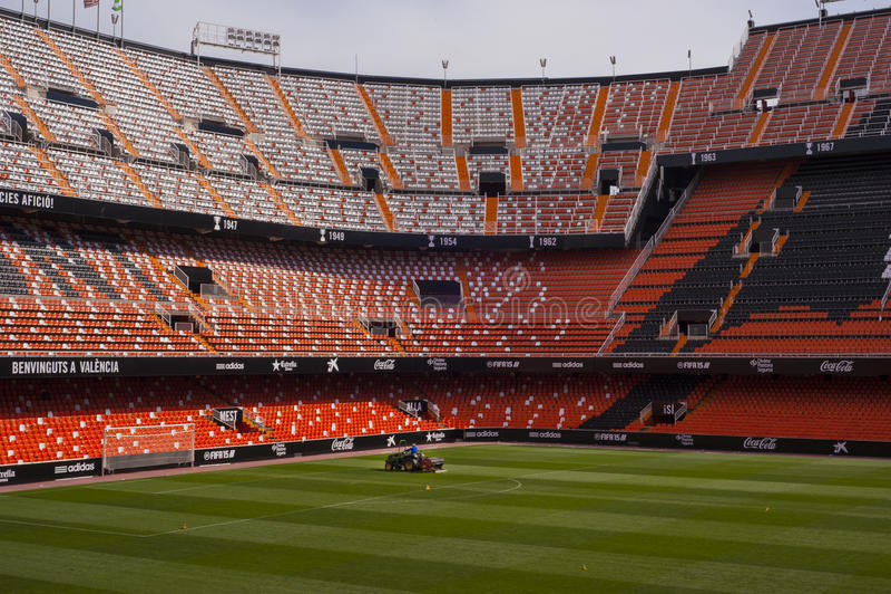 Estádio de Mestalla fotografia de stock