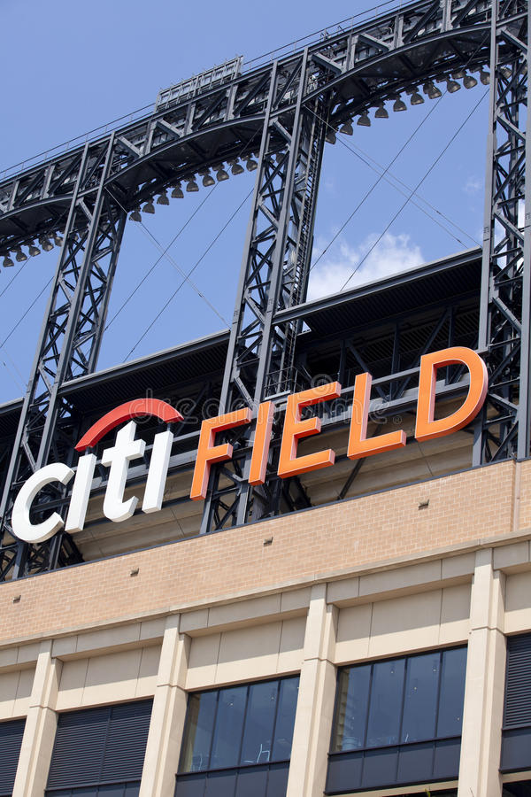 Estádio de Mets - Queens New York foto de stock royalty free