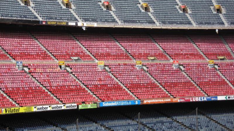 Estádio de Nou do acampamento, Barcelona, Spain imagens de stock royalty free