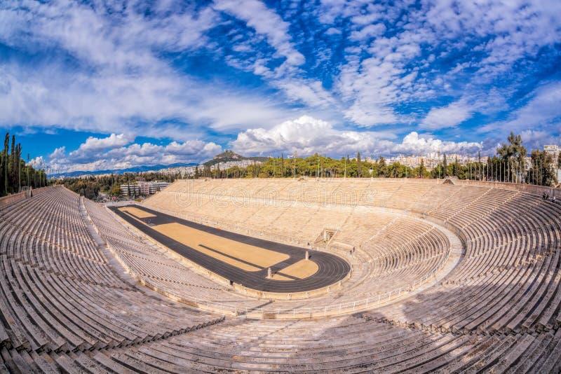 Estádio de Panathenaic em Atenas, Grécia fotografia de stock royalty free