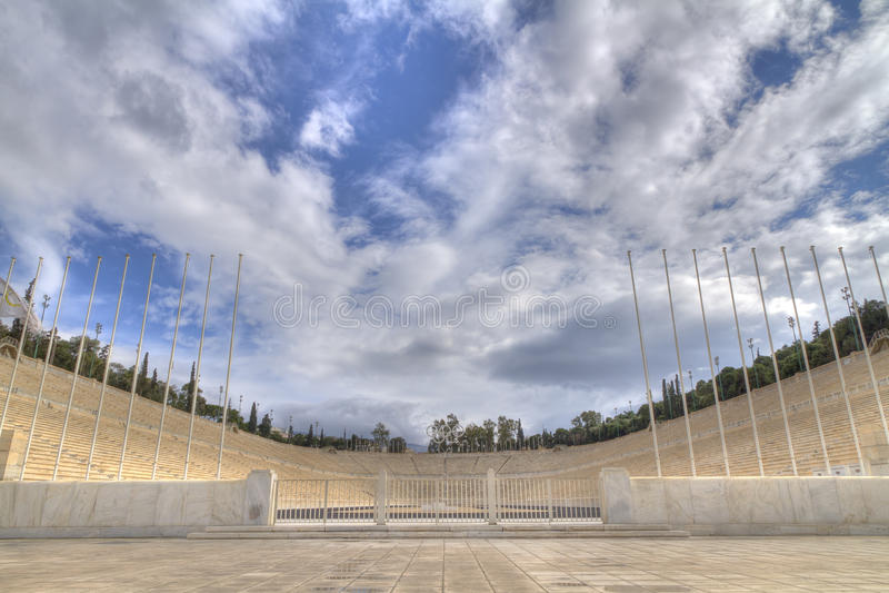 Estádio de Panathenaic, kallimarmaro em Atenas imagem de stock