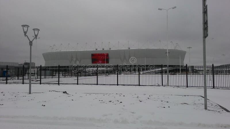 Estádio de Rostov-On-Don Rostov-arena na neve fotografia de stock royalty free