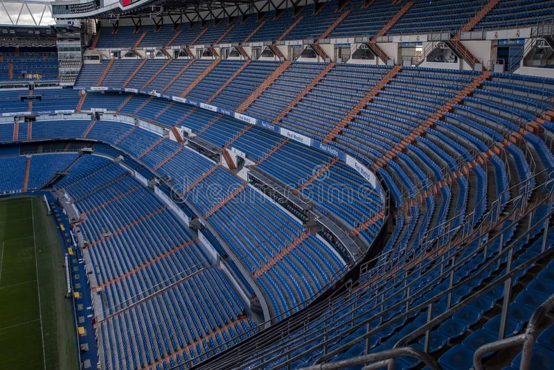 Estádio de Santiago Bernabeu - a arena oficial do Real Madrid de FC foto de stock royalty free