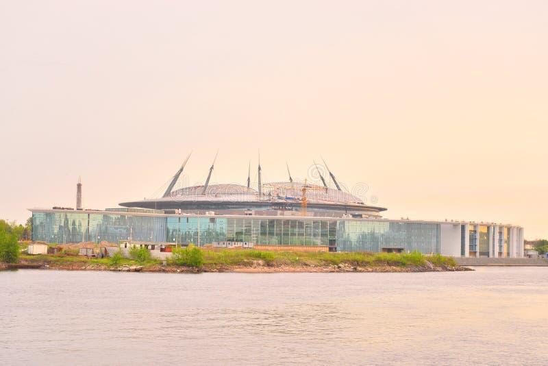 Estádio de Zenit em St Petersburg fotografia de stock