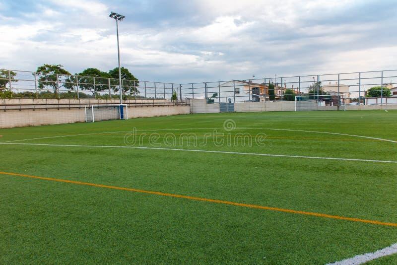 Estádio do amador do futebol fotos de stock