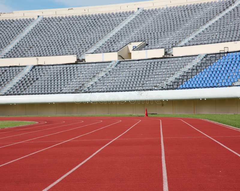 Estádio do atletismo imagens de stock royalty free