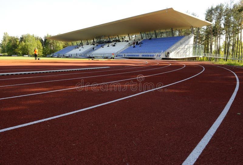 Estádio do atletismo fotos de stock