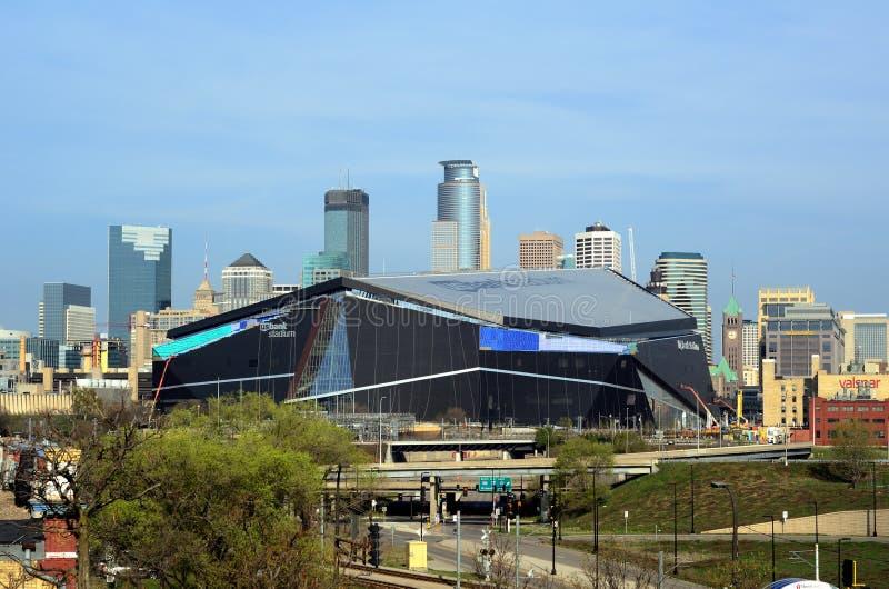 Estádio do banco dos E.U. dos Minnesota Vikings em Minneapolis fotografia de stock royalty free