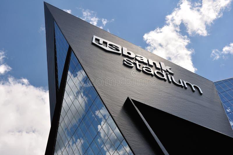 Estádio do banco dos E.U. dos Minnesota Vikings em Minneapolis imagens de stock