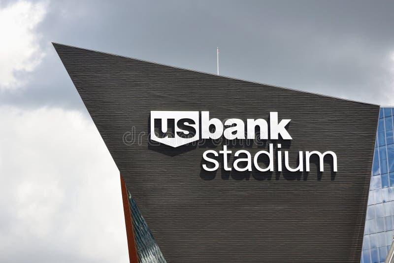 Estádio do banco dos E.U. dos Minnesota Vikings em Minneapolis imagem de stock royalty free