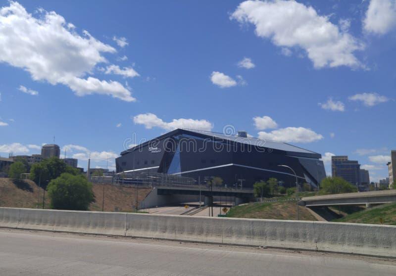 Estádio do banco dos E.U. em Minneapolis, Minnesota fotos de stock royalty free