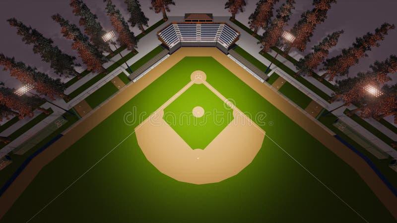Estádio do basebol ilustração do vetor