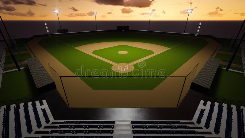Estádio do basebol ilustração stock