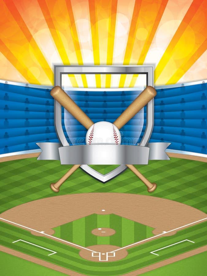 Estádio do basebol ilustração royalty free