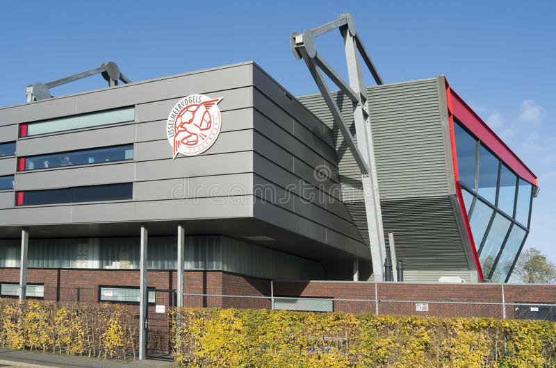Estádio do clube amador FC IJsselmeervogels do futebol. fotografia de stock royalty free