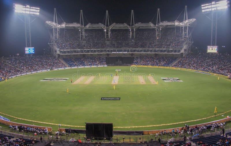 Estádio do grilo de Pune fotos de stock royalty free