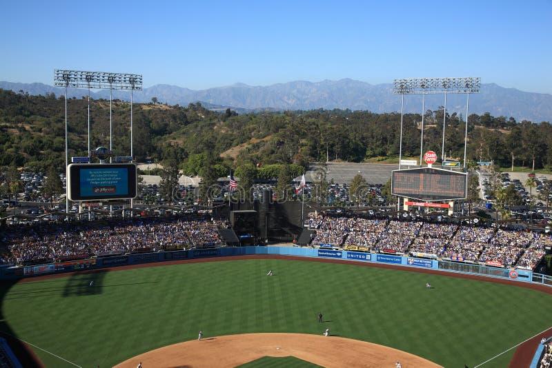Estádio dos Dodgers - Los Angelas Dodgers foto de stock