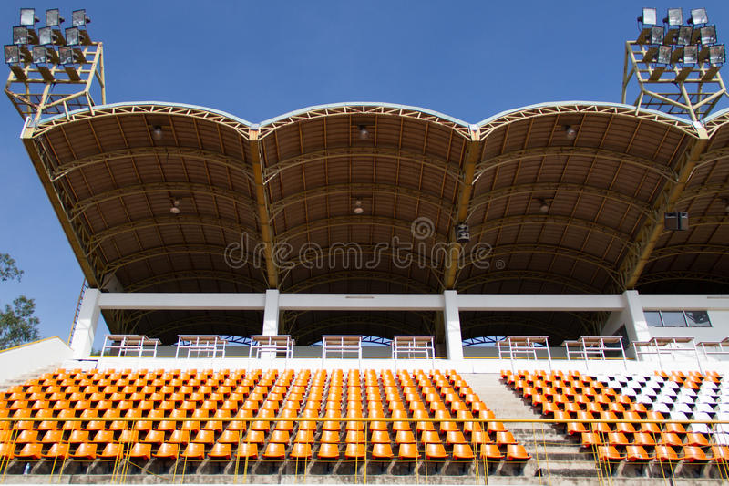 Estádio e luz do esporte fotografia de stock