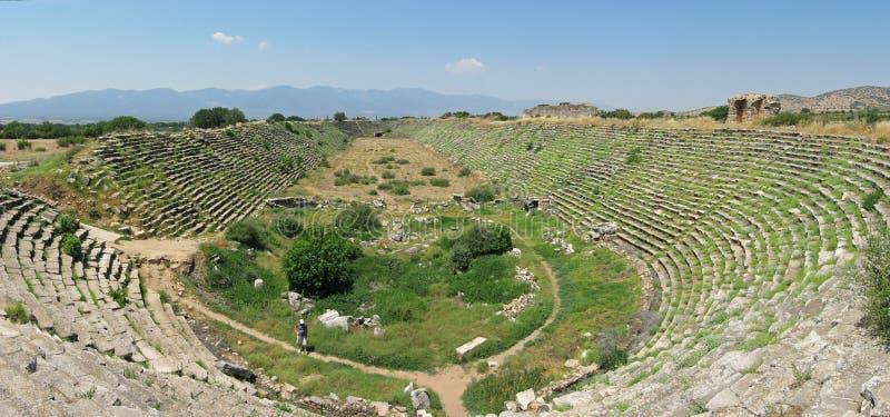 Estádio em Aphrodisias da cidade antiga imagem de stock