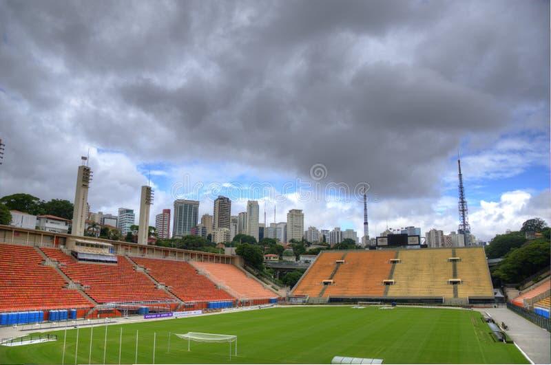 Estádio gör det Pacaembu fotbollmuseet Sao Paulo royaltyfria bilder