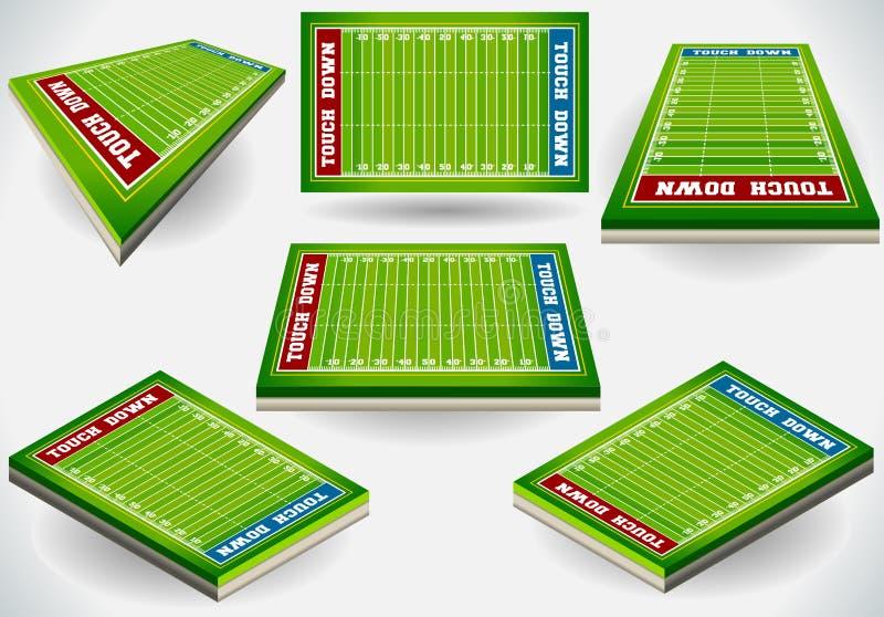 Estádio gráfico da informação com Placeholder do jogador ilustração stock