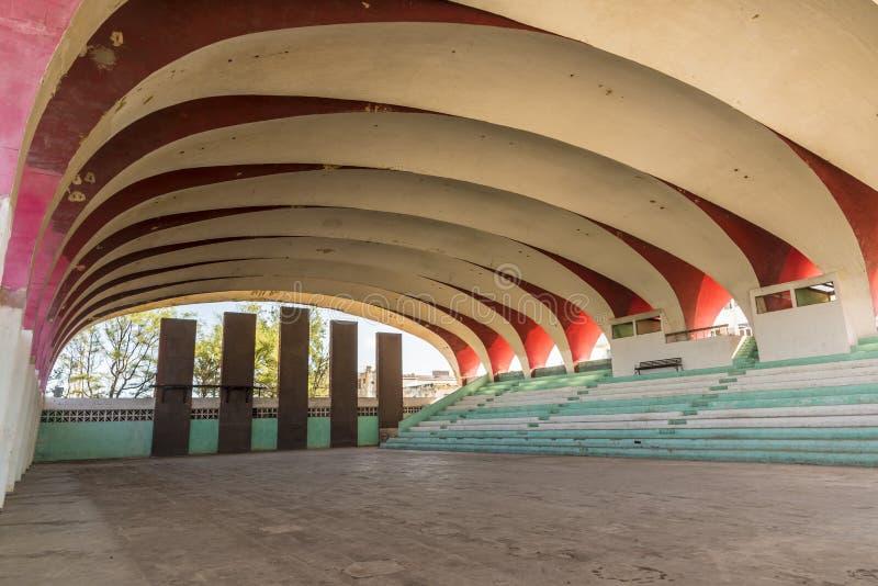 Estádio Havana de Parque Deportivo José Martà do salão de esportes imagem de stock royalty free