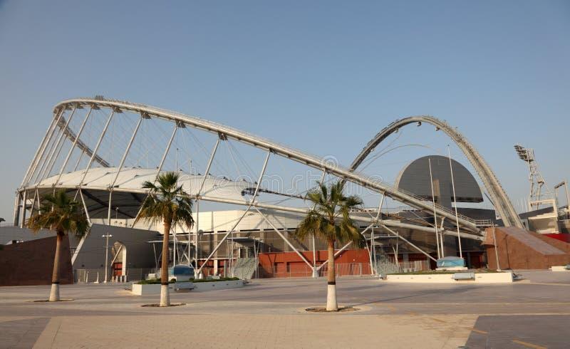 Estádio internacional de Khalifa, Doha imagem de stock