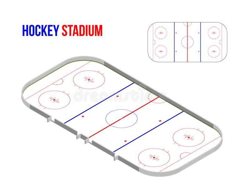 Estádio isométrico do hokkey ilustração royalty free