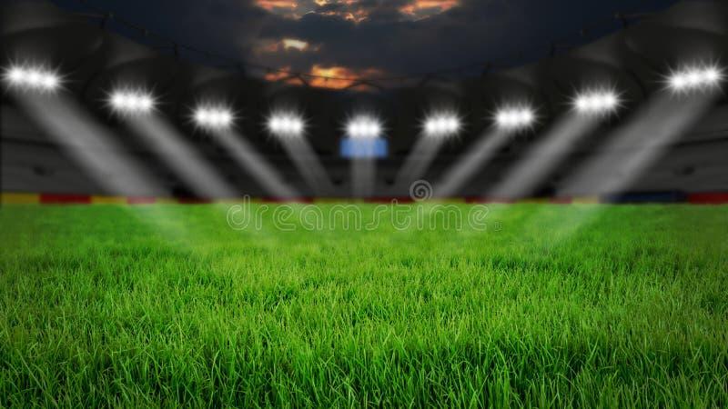 Estádio na noite imagens de stock royalty free
