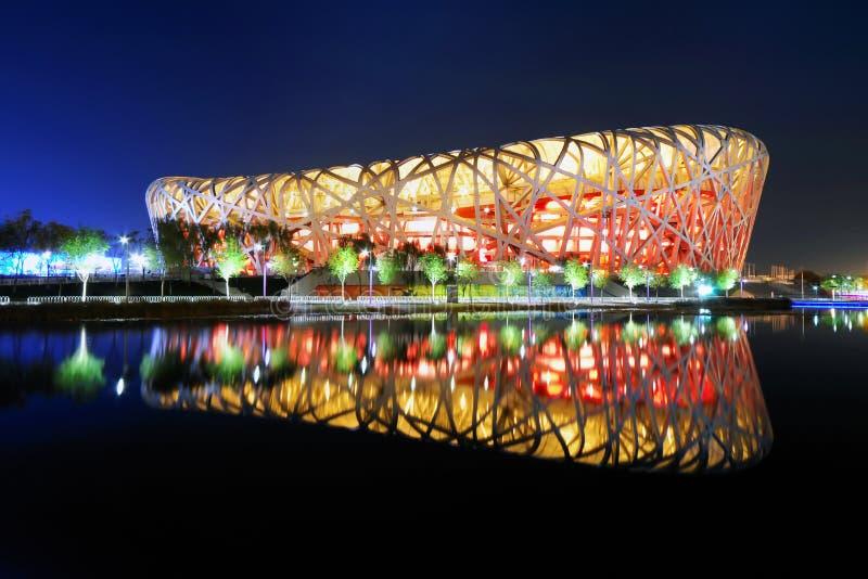 Estádio nacional dos Olympics de China imagem de stock