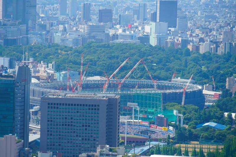 Estádio nacional novo sob a construção imagens de stock royalty free