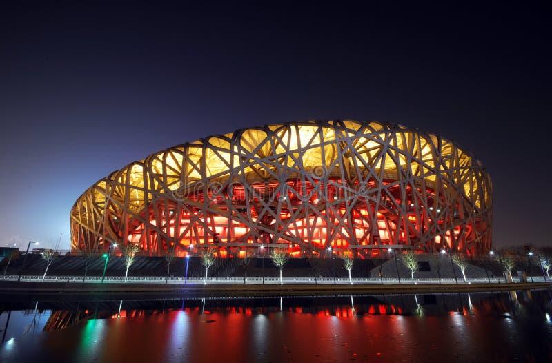 Estádio nacional olímpico de China imagem de stock royalty free