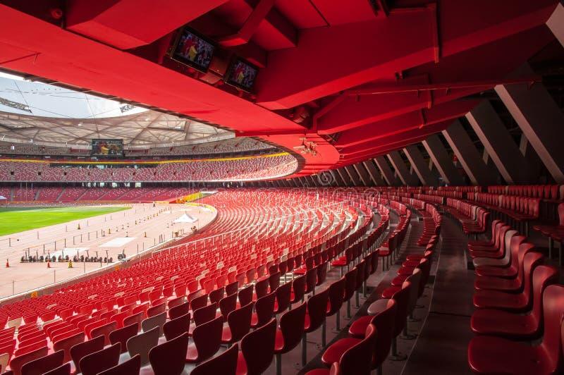 Estádio nacional olímpico de China (ninho do pássaro) imagens de stock