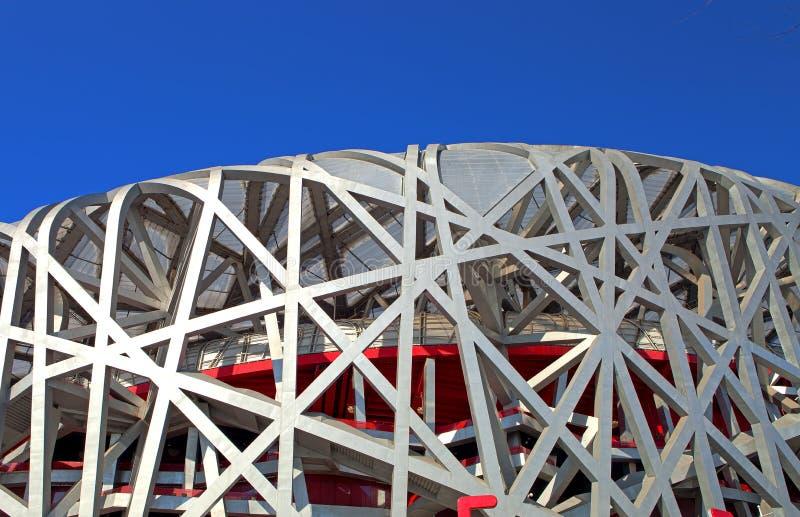Estádio nacional olímpico de China (ninho do pássaro) fotografia de stock