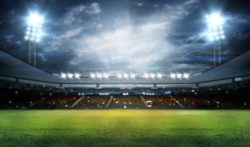 Estádio nas luzes foto de stock