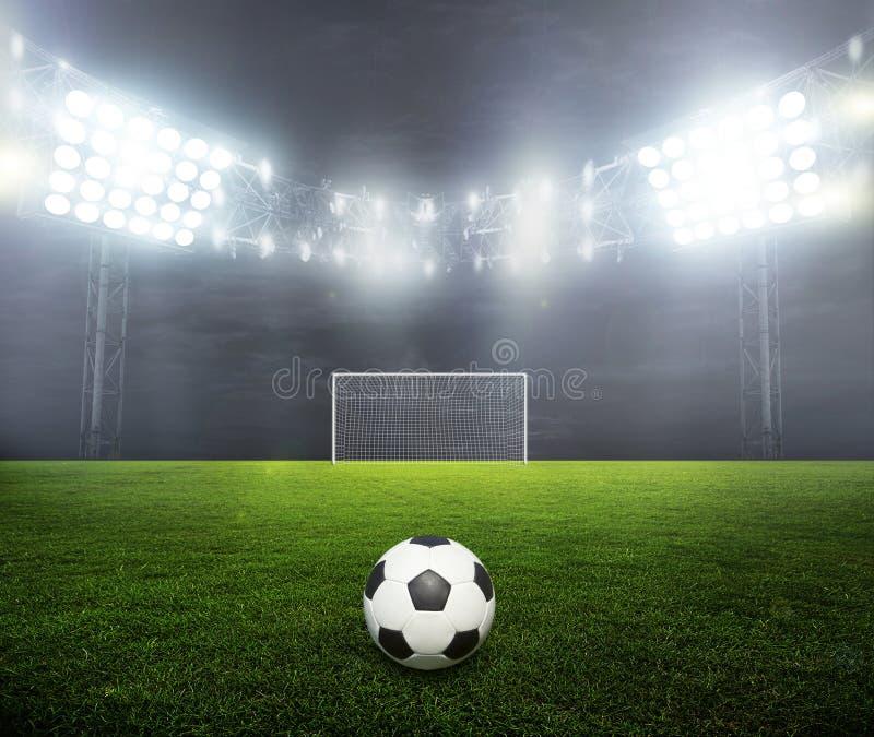 estádio Noite-iluminado imagem de stock royalty free