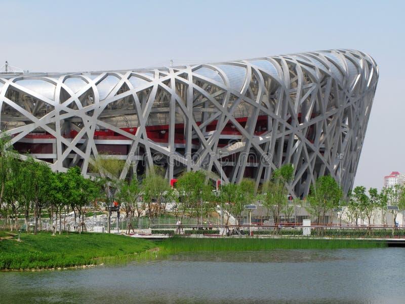 Estádio olímpico de Beijing imagem de stock