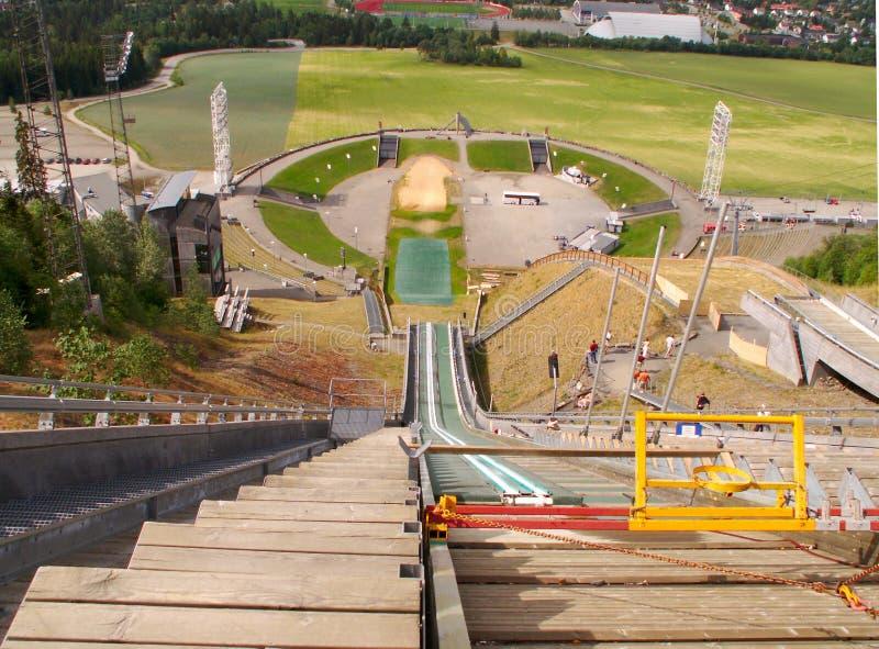 Estádio olímpico de Lillehammer imagem de stock