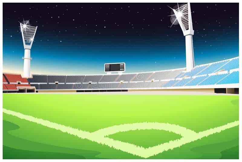 Estádio ostentando ilustração do vetor