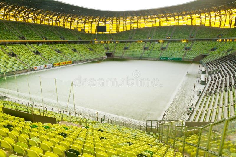 Estádio vazio da arena de PGE em Gdansk fotos de stock