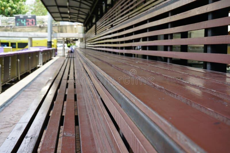 Estádio vazio da escola foto de stock